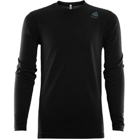 Aclima LightWool Crew Neck Shirt Kinderen, jet black